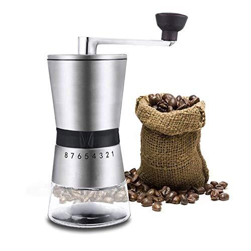 coffee grinder De acero inoxidable manual molinillo de café - Burr portátil molinillo de café - Burr cerámica cónico de precisión de elaboración de la cerveza - la manivela Rectificado cónico amolador