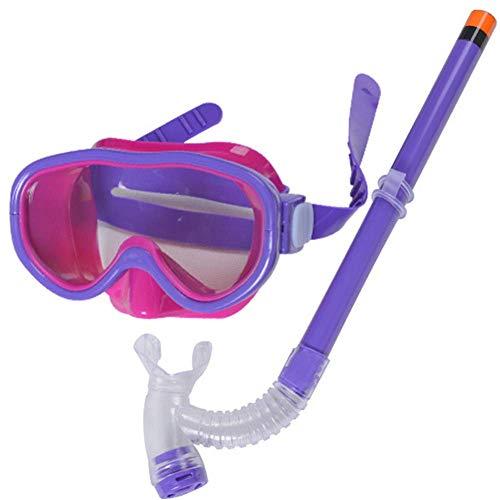 Molinter Schnorchel Set Kinder Tauchmaske Taucherbrille mit Schnorchel Für Jungen Mädchen Junior Sch (Lila)