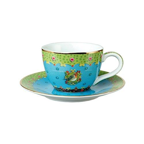 Goebel Eva Maria Nitsche Lively Robin - Espressotasse Natural Harmony