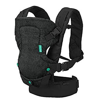 Infantino Flip 4-in-1 Carrier - Ergonomic Convertible face-in and face-Out Front and Back Carry for Newborns and Older Babies 8-32 lbs