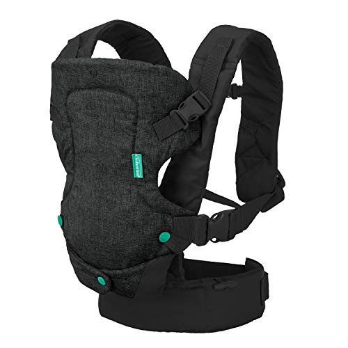 Infantino Flip 4-in-1 Carrier - Ergonomic, Convertible, face-in and face-Out, Front and Back Carry for Newborns and Older Babies 8-32 lbs
