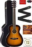 Fender CT-140SE Travel Acoustic-Electric Guitar Bundle with Hard Case, Strap, Strings, Picks, and Instructional DVD - Sunburst