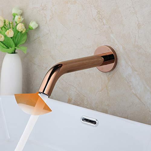 lavabo de baño KEMAIDI Grifos de baño Negro Cromado Oro Montaje en pared Sensor Grifo Manos automáticas Free Touch Sensor Mixer Grifo para