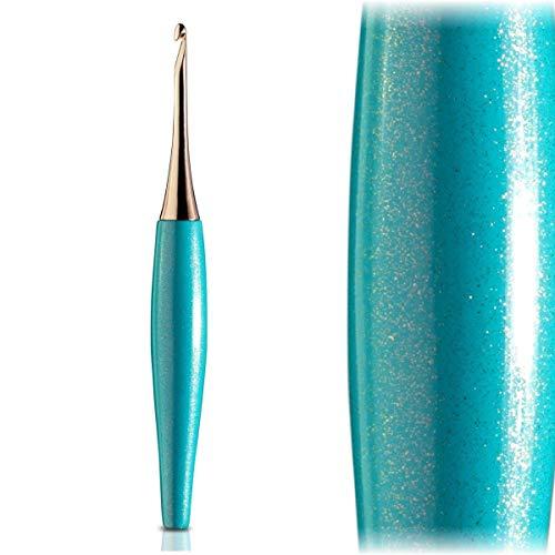 Furls Odyssey Turquoise Crochet Hook, Rose Gold Plated Tip, Ergonomic (6.5mm (K))