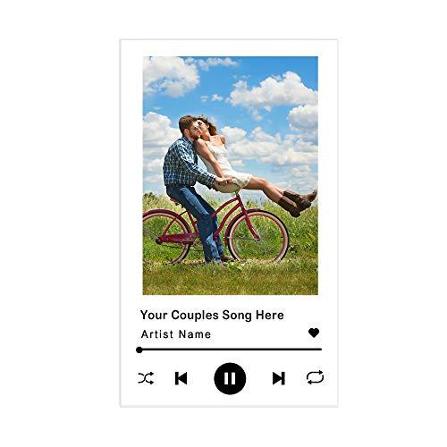 Personalizzato Acrilico Codice Spotify Cornice Musicale Personalizzata Targa Personalizzata Codice Spotify Tavola Musicale Acrilico Album Personalizzato Foto Vetro Arte Musica Segno Placca Canzone