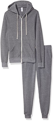 Alternative Men's Warm up Suit, Eco Grey, M