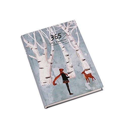 Cuaderno planificador diario, creativo, tapa dura, 365 días anuales, color Deer