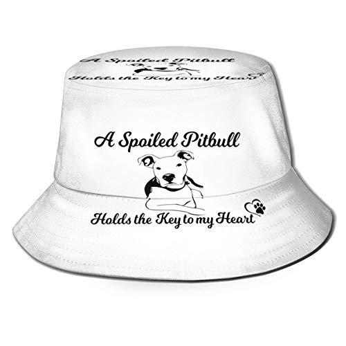 YoungbG EIN verwöhnter Pitbull hält den Schlüssel zu Meinem Herzen Unisex Bucket Hat Fisherman Cap Sun Hat