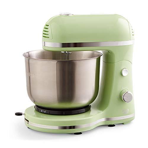 Delish by Dash Compact Stand Mixer, 3.5 Quart with Beaters & Dough Hooks Included - Green