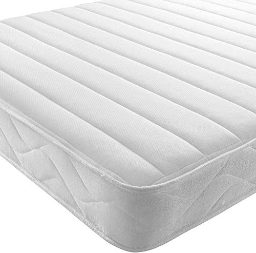 RÊVE Beds - Double Mattress Memory Foam Mattress. Sprung Double Mattress With Memory Foam And A Deluxe Knitted Onion Micro Quilted Stretch Fabric - 4FT6