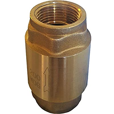 """Lead Free Brass Spring Check Valve, IPS Thread (1-1/2"""" [1.5 inches]) from Metpure"""