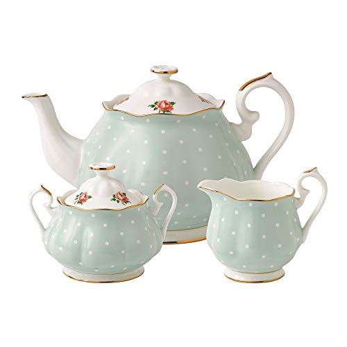 Royal Albert New Country Roses Polka Rose Tea Set, 3-Piece