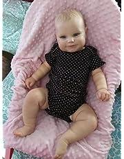 yuela 50/60 cm Dwie opcje Reborn Baby Doll małe dziecko Real Soft Touch Maddie z ręcznie rysowanymi włosami wysokiej jakości ręcznie wykonana lalka (50 cm)