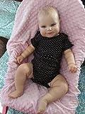 yuela 50/60CM Deux Options Reborn Baby Doll Toddler Real Soft Touch Maddie avec des Cheveux de Dessin à la Main Poupée Faite à la Main de Haute qualité (60cm)