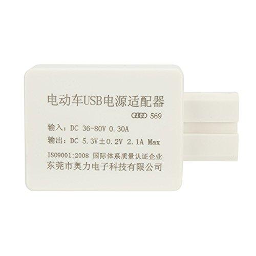 FATO. Cargador Inteligente adaptador de alimentación 2A Vespa impermeable del coche del USB