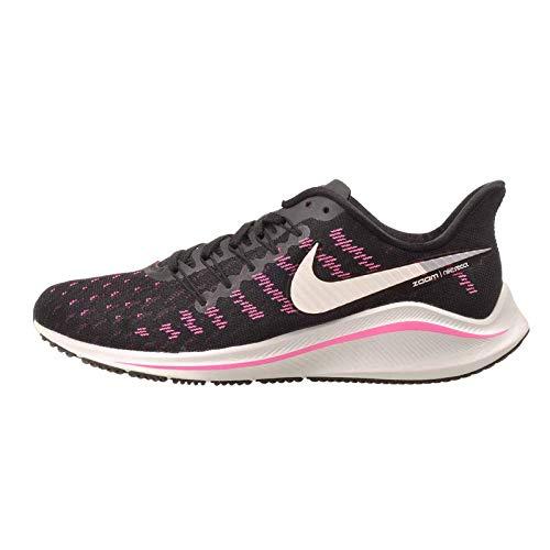 Nike Men's Air Zoom Vomero 14 Track & Field Shoes, Multicolour (Black/Platinum Tint/Pink Blast 007), 8 UK