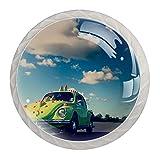 Beetle Classic - Pomos de cristal para armario (30 mm, 4 unidades)