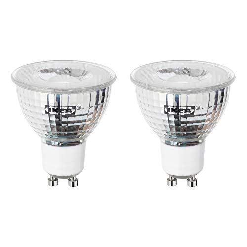 IKEA Tradfri GU10 400 Lumen Dimmbare Smart LED Birne (2700 K), 604.200.41 – Set von 2