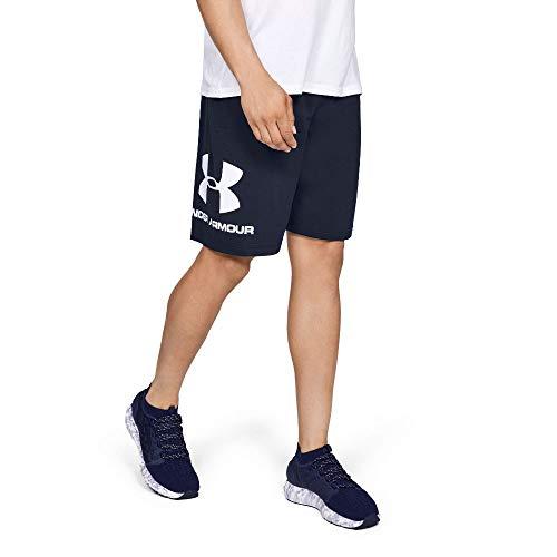 Under Armour Under Armour Sportstyle Logo Tank, sportliches Muskelshirt aus superweichem Stoff, ärmelloses Sportshirt mit loser Passform Herren, Black / Black / Black, L