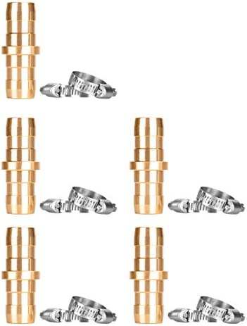 Alanfox 5 Sets Brass Garden Hose Repair Mender Kit for 5 8 or 3 4 Garden Hose Fittings Hose product image