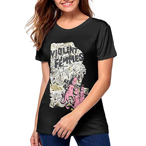 KathyCCassady Violent Femmes Breathable Woman's Pattern Short Sleeve T Shirts M Black