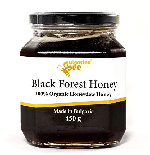 450 g Bio Roher Schwarz Honigtau Honig aus Eichenblättern, Unbeheizter, nicht pasteurisiert
