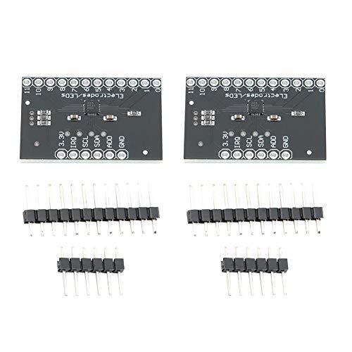 2 Stk. Kapazitiver Berührungssensor MPR121 V12 Berührungssensor-Controller-Modul Schaltanzeige I2C-Tastatur