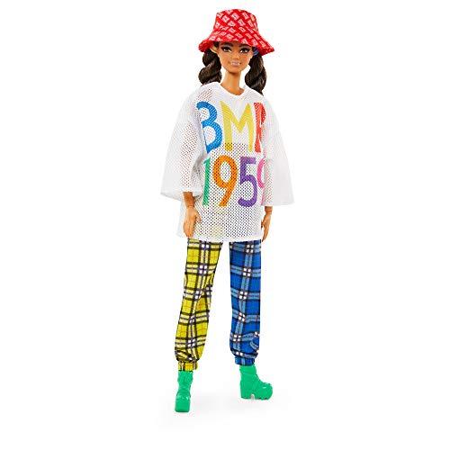 Barbie GNC48 - Barbie BMR1959 Barbie (brünett) Streetwear Meshshirt, Spielzeug ab 6 Jahren