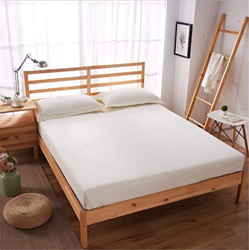 Suyun matrasbeschermer, gevuld, vezel, waterdicht, stofdicht, beige gepolijst 180 x 200 x 30 cm