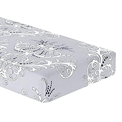 TIKAMI Stretch Cushion Cover Printed Cushion Slipcover Replacement Furniture Protector for Sofa Cushion 3 Seater (Grey) from TIKAMI