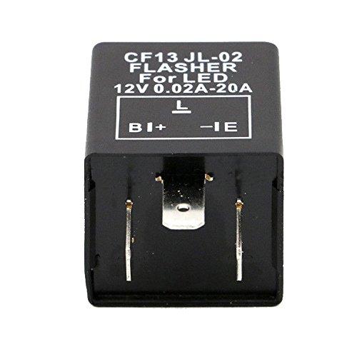 Mintice trade; Kfz Motorrad Lastunabhängig Blinkrelais LED-geeignet 12V 0,02-20A 3Polig Flasher Blinker KRAD CF13