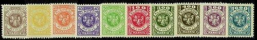 Goldhahn Memel Nr. 141-150 postfrisch  Briefmarken für Sammler