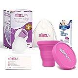 Copa Menstrual Sileu Cup Bell - 12 horas de protección sin fugas y pérdidas -...