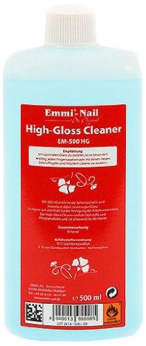Emmi-Nail High-Gloss Cleaner: Reinigungsmittel für Gelnägel und Nageldesign, entfernt Schwitzschicht, pflegt die Hände und verleiht Glanz, 500 ml