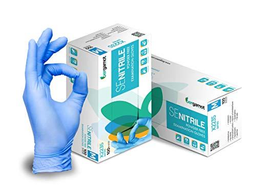 L Guantes de nitrilo desechables Bergamot