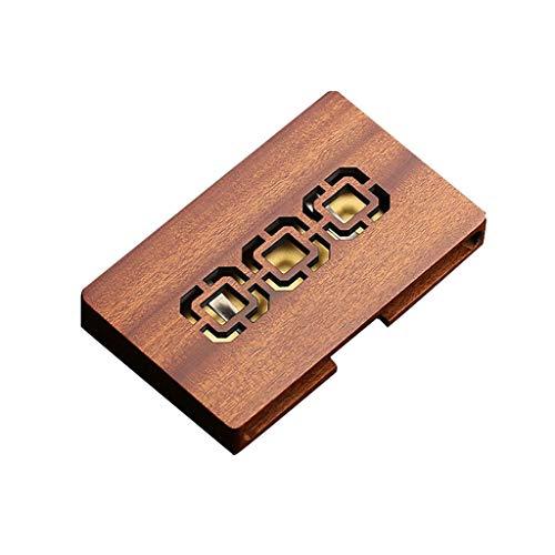 Business card holder Caja Creativa de la Tarjeta de Visita de la Personalidad de los Hombres Titular de la Tarjeta de Visita portátil de Madera de Gama Alta de la Moda