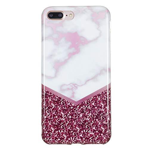 un known Reparación renovación por Teléfono TPU Funda Protectora for el iPhone Plus 8 y 7 Plus Accesorios (Color : Rose Flash Marble)