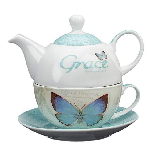 """Botanic Butterfly Blessings """"Grace"""" Tea-for-One Set"""