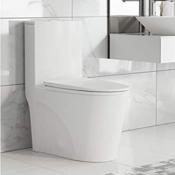 Swiss Madison Well Made Forever SM-1T254 St Tropez One Piece Toilet 26.6 x 15 x 31 inches Glossy White