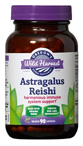 Oregon's Wild Harvest Astragalus Reishi Organic Herbal Supplement, 90 Count