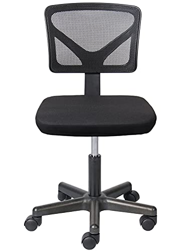 Office Chair Armless Ergonomic Computer Task Mesh Desk Home Office Chair Low-Back Adjustable Height with Swivel Casters