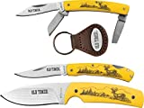 3 Piece Knife Set by Old Timer Top quality knives for everyday carry, with a bonus keyring Well built sharp knives for every occasion whether you need a pocket knife or sheath knife