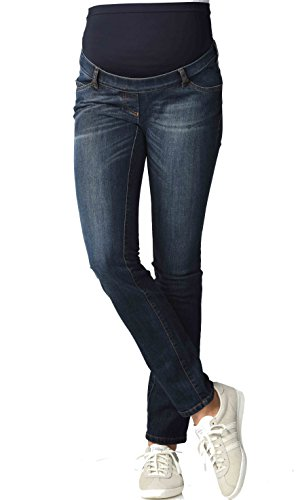 Christoff maternité Femmes Slim Fit de maternité Pantalon Jeans - Bleu Denim, 46W x 32L