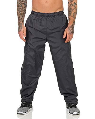 ZARMEXX Herren Jogginghose Trainingshose Sporthose Thermo Freizeithose Jogger Sportswear warm gefüttert grau 3XL/4XL
