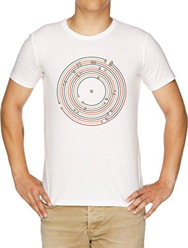 Vinilo Música Metro Grabar Mapa Laberinto Camiseta Hombre Blanco