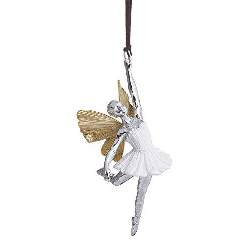 Michael Aram Ballerina Decorative Ornament, Goldtone, Nickelplate, Hand Painted, 2.75' W x 5.5' L x 2' H
