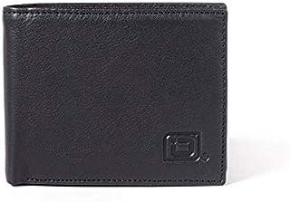 RFID Mens 10 Slot Bifold Wallet in Genuine Leather Black RFID Blocking Wallets for Men