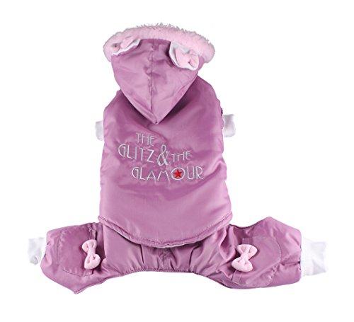 Doggy Dolly W100 Schneeanzug für Hunde Glitz und Glamour, rosa, Größe : S