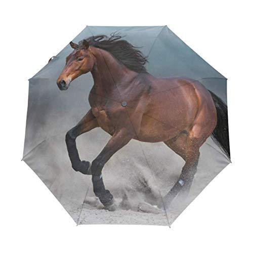Kompakter Reise-Regenschirm mit Tiermotiv, UV-Schutz, wasserdicht, automatisches Öffnen