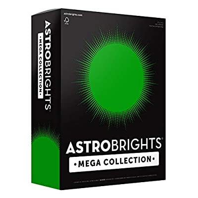 "Astrobrights Mega Collection, Colored Paper, Ultra Green, 625 Sheets, 24 lb/89 gsm, 8.5"" x 11"" - MORE SHEETS! (91677)"